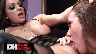 Deviant Hardcore - Hot Babes Abigail Mac & Maddy O'Reilly Eating each other Pussy