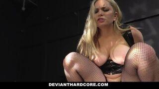 Deviant Hardcore - Mature Blonde Dominates Sex Slave