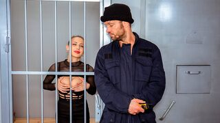 Law 4K - Have you ever seen how a hungry slut behaves in a cage? You need to check this out now!