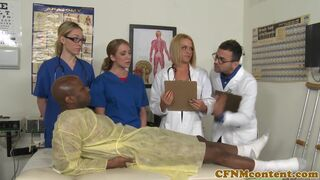 CFNM Secret - Doctor and nurses cocksucking and fucking