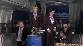 CFNM Secret - Assfucked CFNM stewardess joins mile high club