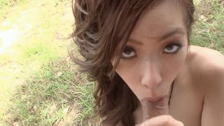 Teen Nippon - Japanese girlfriend blows her guy outdoors
