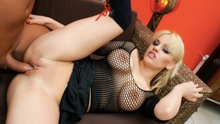 Prime Euro - Cute blonde Britney gets her asshole filled with cock