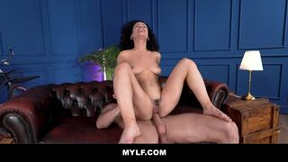 Mylf - Sexy Curly MILF Shows off her Body and Rims a Nice Stud