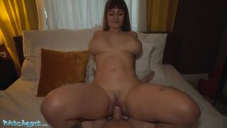 Dominno and her Big Tits Fucked in Hotel Room