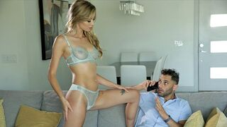 Nubile Films - Hot Blonde Haley Reed Seduces Busy BF for Sensual Fuck