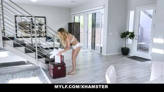 Mylf - Petite MYLF invites a married guy over to thank him properly