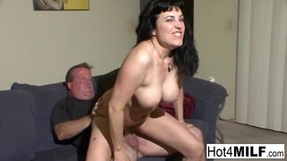 Hot 4 Milf - Busty Slut Films herself Fucking a Dude Live
