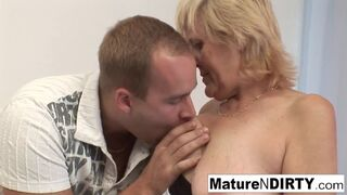 Mature N Dirty - Old Grandma Loves getting Pounded on the Couch