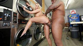 Broken MILF - MILF Katie Morgan Takes Multiple Loads at the Laundromat