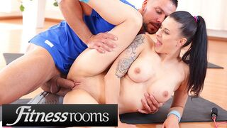 Fitness Rooms - Big Tits Brunette Euro Babe Billie Star Stretched and Fucked by her Trainer