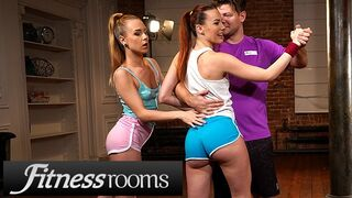 Fitness Rooms - Big Dick Threesome with Alecia Fox and Redhead Charlie Red