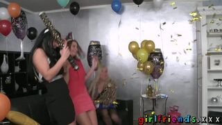 Lez Girls Lick in new Year Part 1