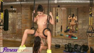 Fitness Rooms - Tiny Teen has Tight little Pussy Fucked after Gym Workout