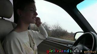Girlfriends XXX - Cute Girls Explore Lesbian Fantasy on Road Trip