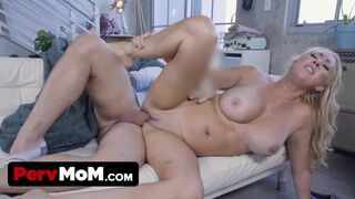 Perv Mom - Naughty Step Son Takes Care of StepMommy Janna Hicks' Juicy Pussy