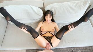 Pure Mature - Good busty model Alana Cruise screwed in the doggy style pose