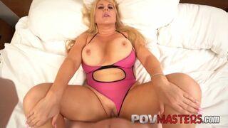 POV Masters - Big Tits MILF Karen Fisher needs Big Dick in her Curvy Body POV
