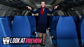 Look at Her Now - Sexy Air Stewardess Angel Emily, been Anal Dominated by a Male Stud