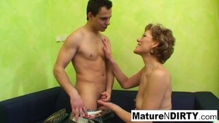 Mature N Dirty - Grandma Loves Watching Porn to get Going!