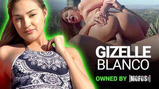 Mofos - Amateur Gizelle Blanco gives POV Blowjob and Foot Job to Charles Dera's Big Dick