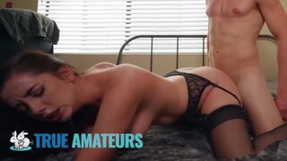 True Amateurs - Huge Tits 18 Y/o Takes a Pussy Creampie