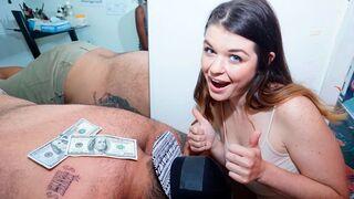 Money Talks - Scarlett Sage and Adriana Maya are getting fucked by a big boner