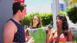 Money Talks - Skyla Novea and Adriana Maya are enjoying intensive sex