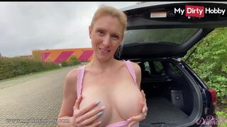 My Dirty Hobby - MyDirtyHobby - Busty babe has sex in the back of her car