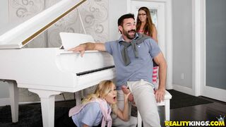 Sneaky Sex - Gorgeous piano teacher fcks with an innocent teen Kenzie Kai