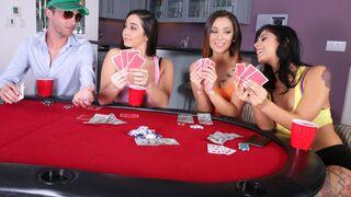 Money Talks - Beauties Karlee Grey, Gina Valentina and Jaye Summers are sucking a dick