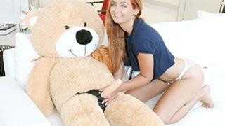 Exxxtra Small - Immature Spinner Caught Fucking a Teddy Bear