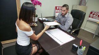 Little Asians - Amazing Asian secretary River Fox pleases her lovely boss
