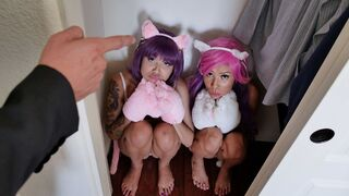 Little Asians - Two babes Brenna Sparks and Sami Parker are sharing a big cock