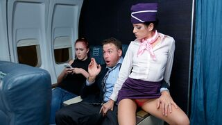 Sneaky Sex - Hot stewardess Nikki Knightly gives a good blowjob for a rich man