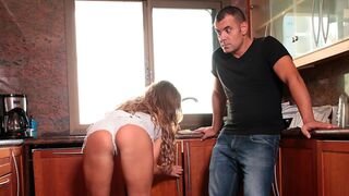 Mikes Apartment - Busty brunette Taylor Sands is getting dominated in the cowgirl pose