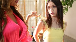 Mikes Apartment - Two cuties Richelle Ryan and Lucie Cline are enjoying lesbian sex