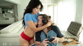 I Know That Girl - Smiling black-haired hottie Adria Rae is trying anal sex