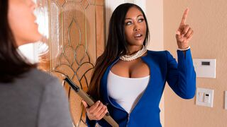 Round and Brown - Big-boobed ebony with tattoos Moriah Mills pleases her white lover