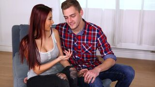 Mikes Apartment - Redhead Asian with big boobs Paula Shy and her first big cock