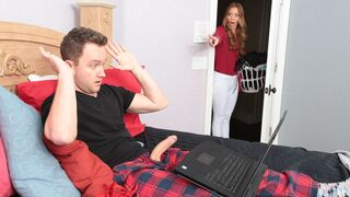 MILF Hunter - Cheating MILF Brianna Bree bangs with a lucky young man on the sofa