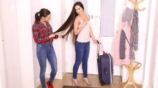 Mikes Apartment - Gorgeous small-tit brunette Monica Brown fucked from behind