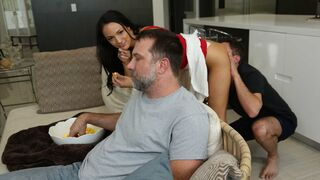 Sneaky Sex - Beauty Sofi Ryan pulls up her miniskirt for a new long-dicked lover