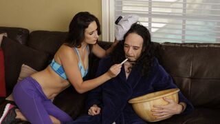 Sneaky Sex - Coach is pounding a passionate big-boobed brunette Ashley Adams