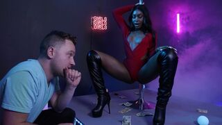 Round and Brown - Lucky white dude fucked a sexy oiled ebony Tori Montana