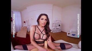 DDF Network VR - Glamour VR Lingerie Model Zafira Rides Sex Toy in POV Masterpiece by DDF