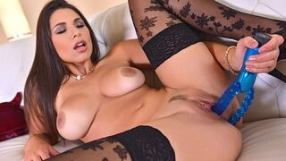 1 By Day - The Perfect Busty Beauty Zafira Finger Bangs herself for you