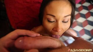 Asian Sex Diary - Flower Dress Asian Stripped down & Fucked