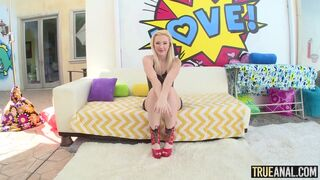 True Anal - Aesthetic babe Samantha Rone gets her ass fucked by a big penis