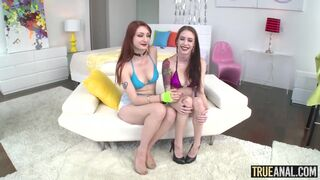 True Anal - Violet Monroe and Anna De Ville are sharing cum after hot anal